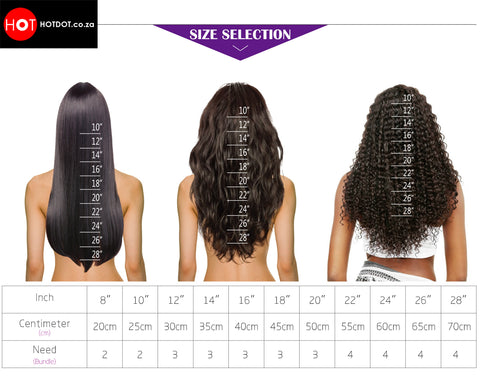 how to choose the right hair weave size