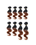 "BEAU-DIVA BODY WAVE 8PCS Human Blend Hair WEAVES PACKAGE 14""+16""+18"""