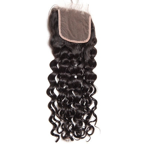 Beau-Diva 9A Brazilian Water Wave 4X4 Closure Three Parts SKU CL-3P WW