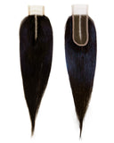 Beau-Diva 12A Brazilian Straight 4X2 Closure Middle Parts SKU STWC-2/4