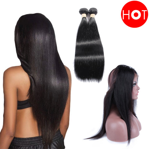 Beau-diva 360 Closure + Weaves Straight Package SKU 2STW/360C