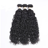 "Beau-Diva 3x Bundles 9A Brazilian Hair Water Weave 12"" - 18""inch Black SKU HH 3WATER WAVE"