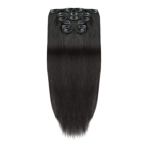Hotdot Clipin Remy Hair Extensions SALE Human Hair Color #1 From R1199