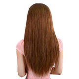 Hotdot Clipin Remy Hair Extensions Human Hair Color #6 SKU Clipin#6