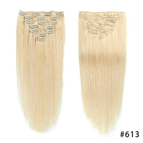Hotdot Clipin Remy Hair Extensions SALE Human Hair Color #613 in South Africa