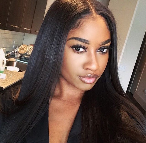 Hotdot Brazilian Wig Straight 3 Parts Closure SKU STW Wig
