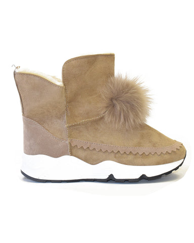 Blake Fur Lining Slip On Winter Mid Calf Boots SKU 1805