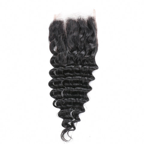 Beau-Diva 9A Brazilian Deep Water Curly 4X4 Closure CLOSURE 3PART DW CURL Hotdot.co.za