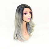 Ombré Wig SALE Sapphire LULU Synthetic 14 inches GRAY | HOTDOT