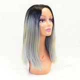 Sapphire ROMI Synthetic Ombré Wig 12 inches SKU ROMI T1/Gray