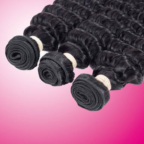 Special: Beau-Diva 3x Bundles 12 inches 9A Brazilian Hair Deep Weave Package SKU 3DEEP12