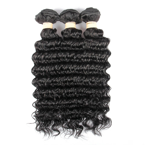 Beau-Diva 3x Bundles 12A Brazilian Deep Wave Weave Package SKU 3DEEP WAVE