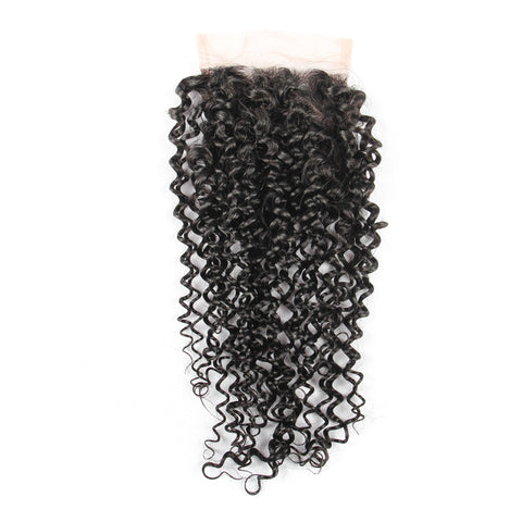 Beau-Diva 12A Brazilian Kinky 4X4 Closure SKU CLOSURE 3PART KINKY CURL