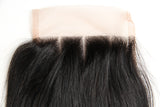 Beau-Diva 9A Human Peruvian Hair Straight Hair 4X4 Closure Three Parts | hotdot.co.za