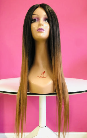Hotdot Two tone Straight 22inches SYNTHETIC Wig  SKU Chilli 22""