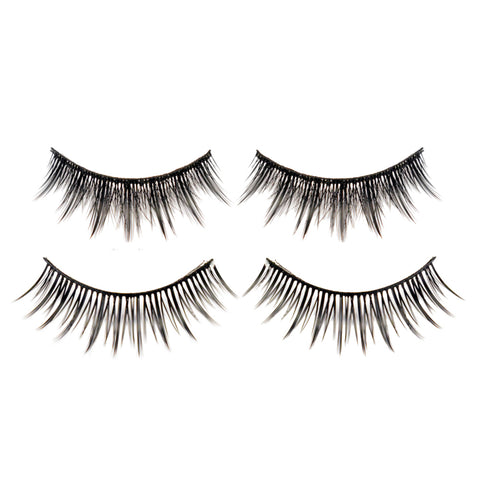 Hotdot 2 Pairs x Eyelashes Black Mix