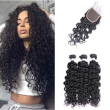 Free Closure:Brazilian WATER WAVE x3Bundles+ Free Closure hotdot.co.za