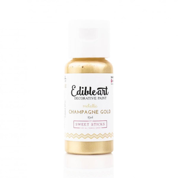 METALLIC CHAMPAGNE GOLD 15ML - EDIBLE ART PAINT
