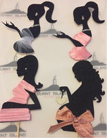 Pregnant Lady Silhouette Cake Topper