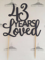 Age & Custom Wording Cake Topper