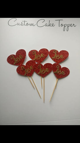 Love Heart Cupcake Toppers
