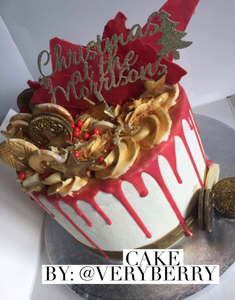 Personalised 'Christmas at the ...' Cake Topper