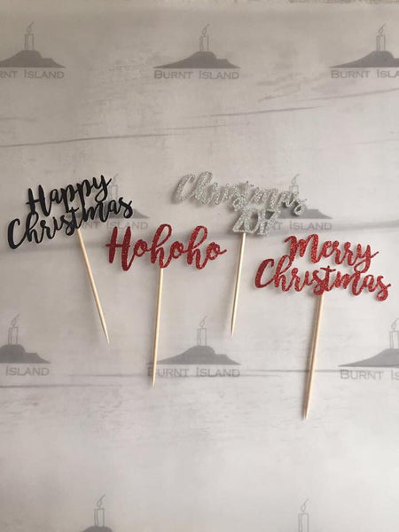 Any Wording Cupcake Toppers - Christmas Edition!