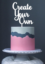 Any Wording Acrylic Cake Topper