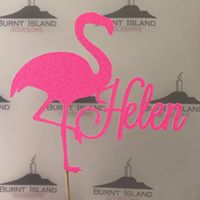 Bubblegum Pink Flamingo Cake Topper