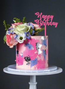 Acrylic Happy Birthday Topper