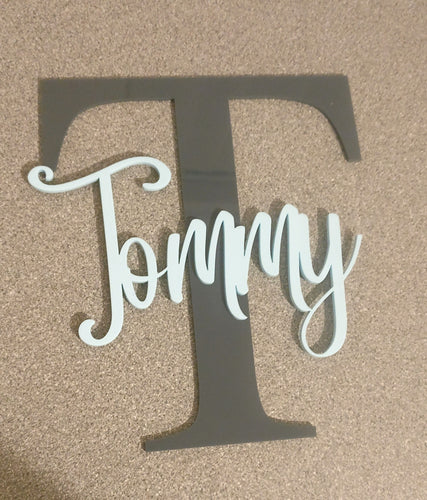 Name & Initial Acrylic Sign