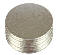 "10"" Round Thick Silver Cake Boards/Drums (Pack of 5)"
