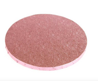 "10"" PINK round thick cake board / drum"