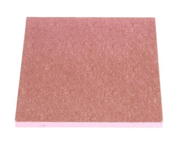 "8"" PINK square thick cake board / drum"