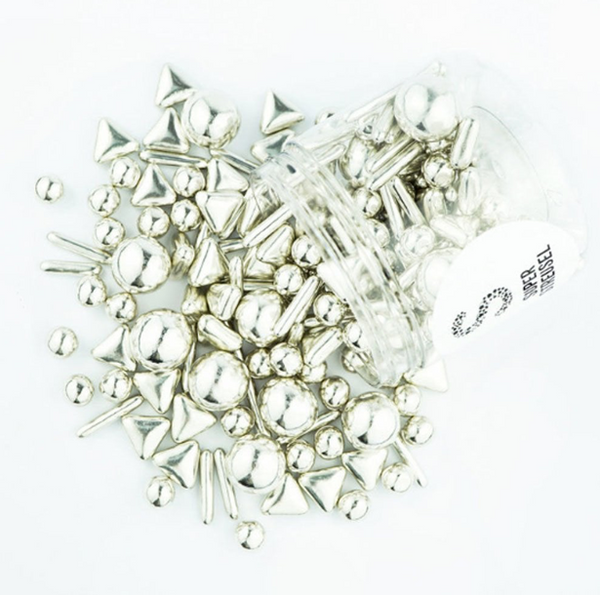 Super Streusel Metallic Rods And Balls MIX Super Sprinkles - Silver - 90g