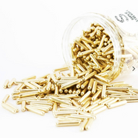 Super Streusel Gold Metallic Rods Sugar Sprinkles - 90g