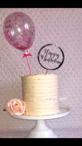 Happy Birthday in Shape Acrylic Cake Topper