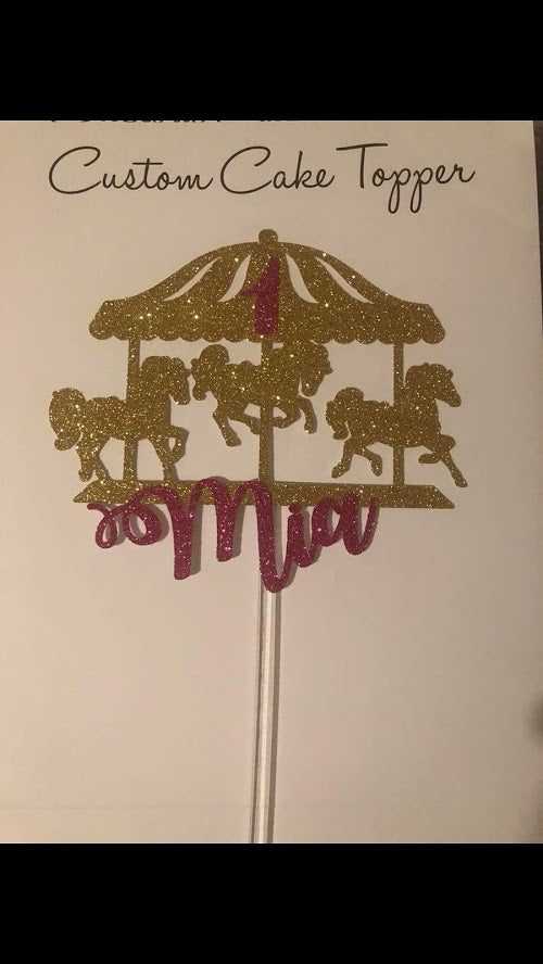 Personalised Carousel Cake Topper