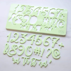 Sweet Stamp Curly Font Numbers Set