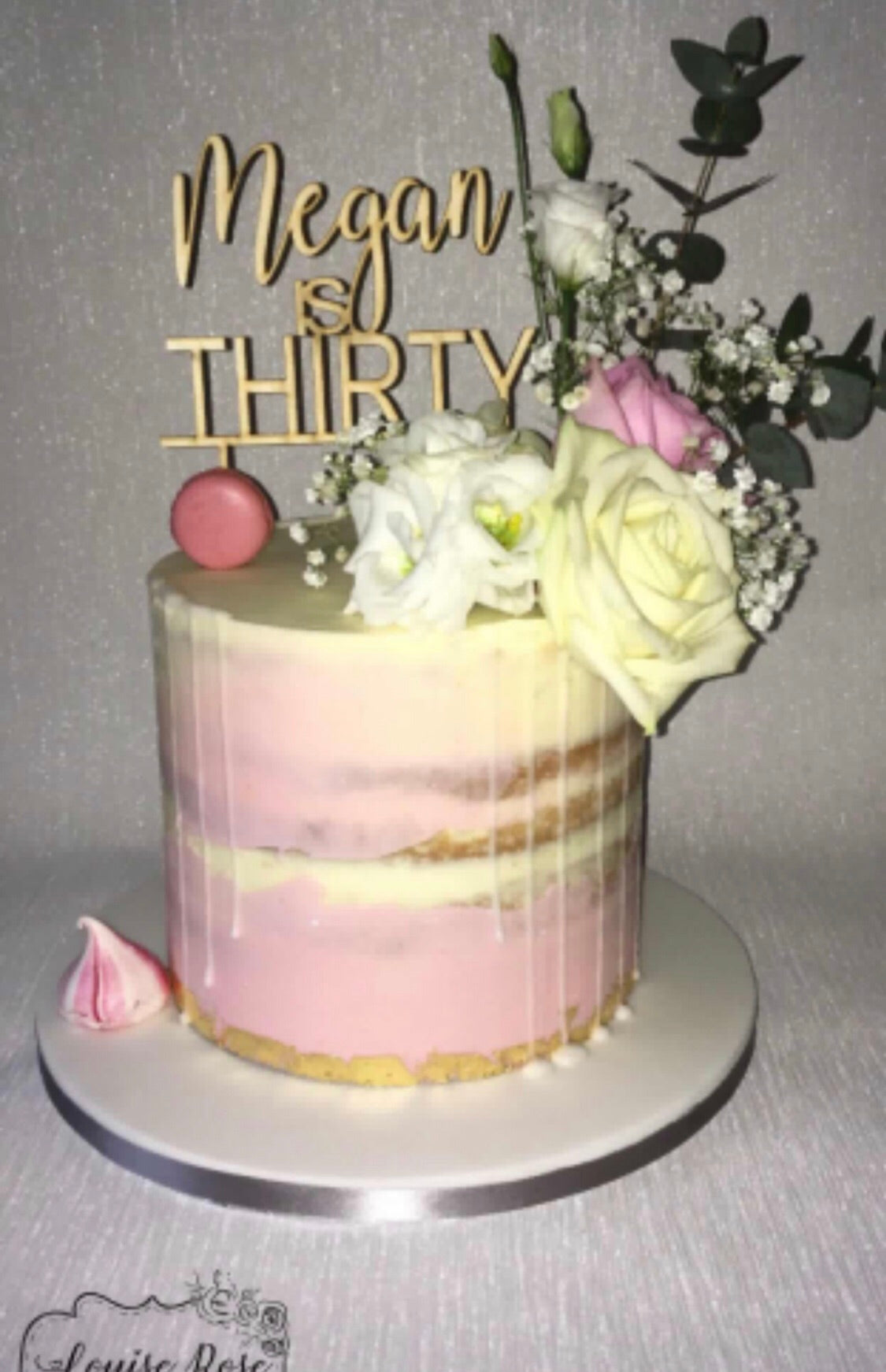 Create Your Own Wooden Cake Topper