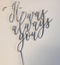Create Your Own Acrylic Wording Cake Topper!