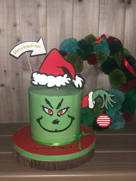 The Grinch Christmas Cake Topper Set