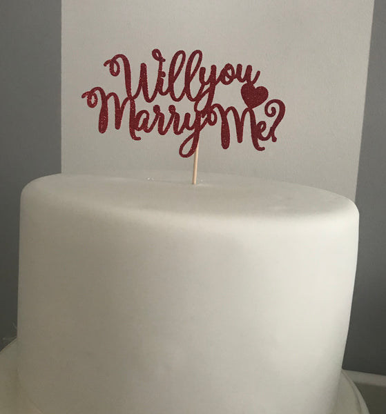 'Will you marry me?' Cake Topper