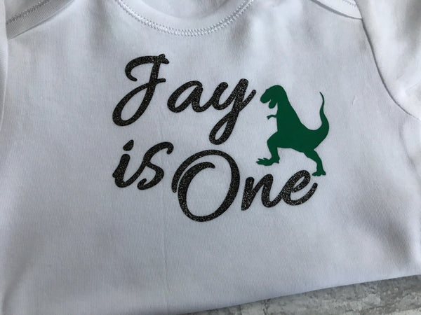 Dinosaur birthday vest/t shirt