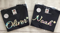 Pack of 5 name favour/party bag t shirts