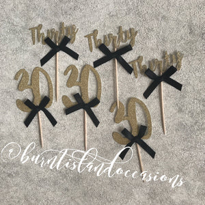 Cupcake Toppers - Number & Bows