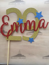 Two-Tone Name and Age Cake Topper