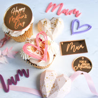 Happy Mother's Day engraved Acrylic disk - cupcake