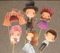 Greatest Showman cupcake & cake toppers