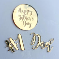 Father's Day Acrylic Charm Set
